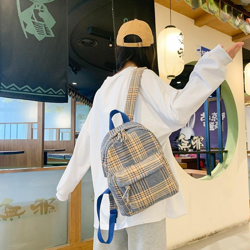 2020 nueva manera linda morral del estudiante del bolso de viaje de ocio bolso de hombro de Corea de las mujeres
