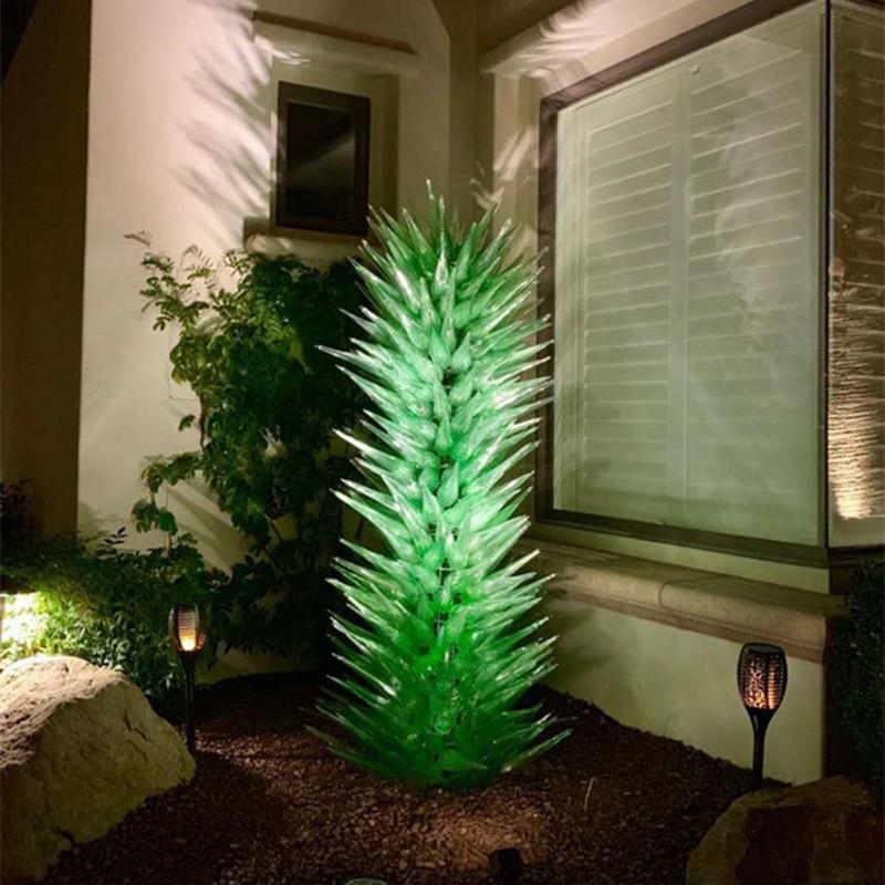 Lampade soffiate a mano personalizzate Le lampade per interni Arti Della Decorazione Verde Green Art Lampada da terra Giardino Sculture Alberi di fiori Scultura