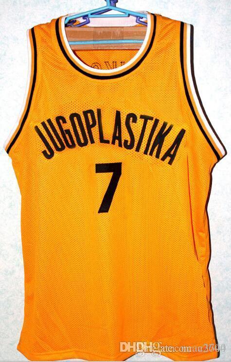 las mujeres de Hombres jóvenes Vintage # 7 Toni Kukoc Jugoplastika baloncesto Jersey Tamaño S-4XL o costumbre cualquier nombre o el número del jersey