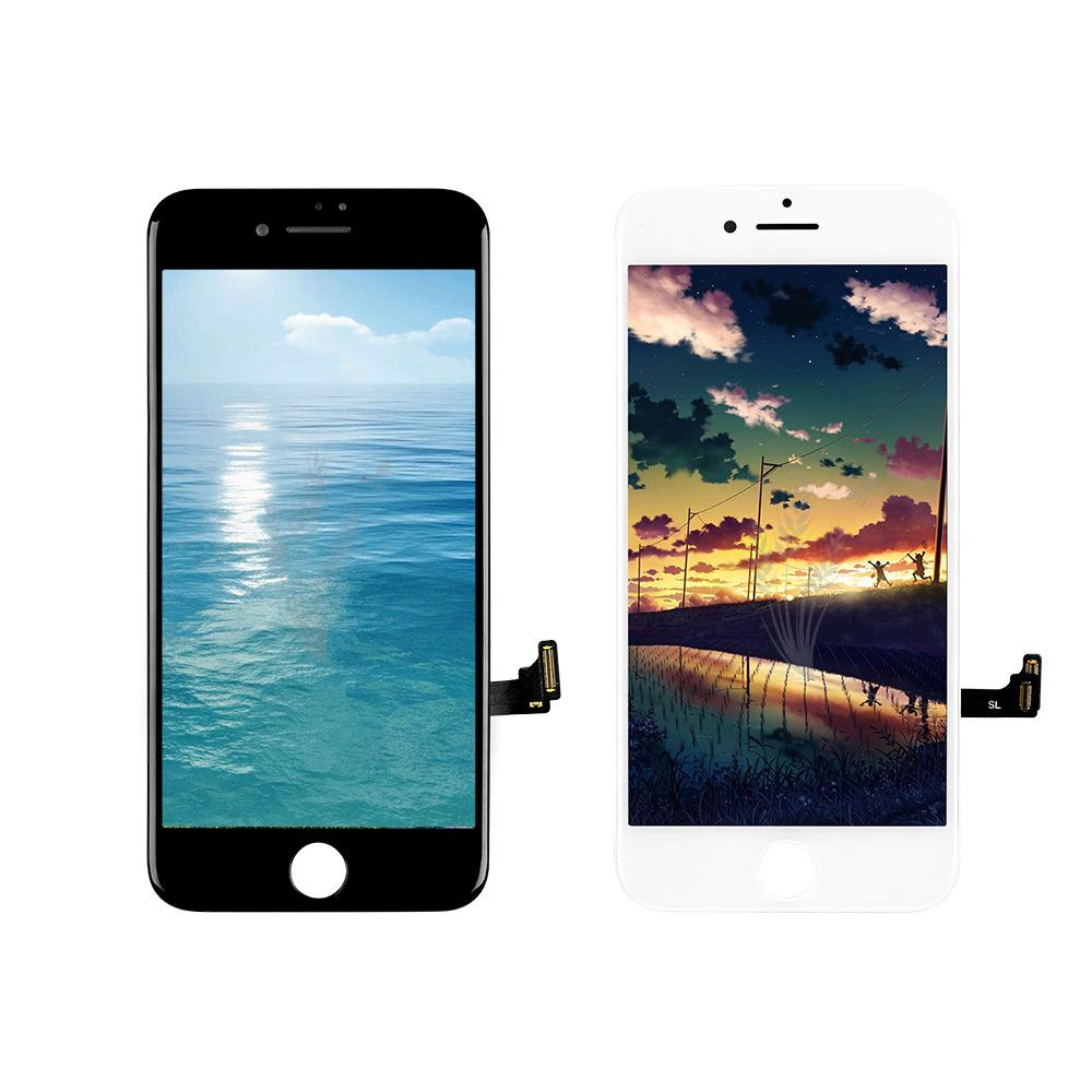 شاشة A +++ LCD لشاشة lPhone 4s 5S SE 6 6 Plus 6S 7 Plus 8 اختبار محول الأرقام بشاشة تعمل باللمس ملء الشاشة من خلال النظارات الشمسية