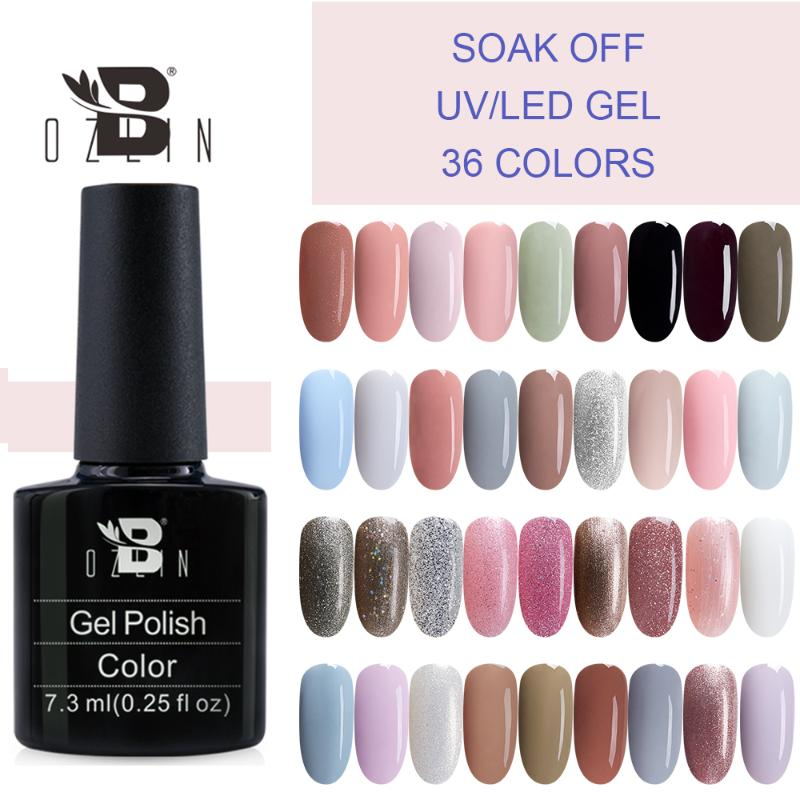 Bozlin Color Nail Gel Polish Glitter Nail Art Semi Permanent Lacquer Soak Off Varnish Uv Led Manicure Painting 7 3ml From Jinzhong 34 77 Dhgate Com