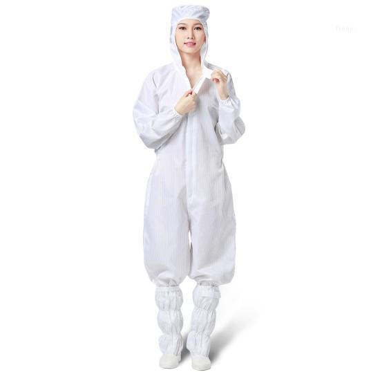 Anti Toz LBD stock1 Covered in Yapışkan Ön Açılış tarafından Koruyucu Suit Giyim Tek 4 adet