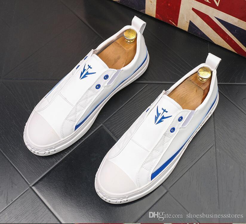 YENİ Lüks Tasarımcı Sneakers bağcıklı Beyaz Siyah taban ayakkabı Düşük Kesim Süet Erkekler Loafers Parti Düğün Deri Ayakkabı