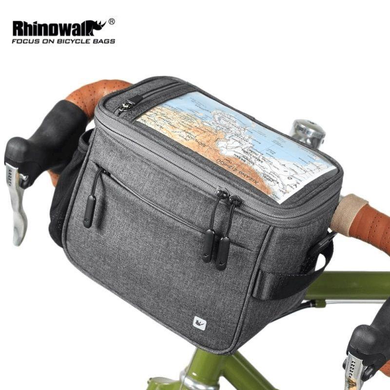 Bike Handlebar Bag Bicycle Front Tube Pocket Shoulder Pack Riding Touch Screen