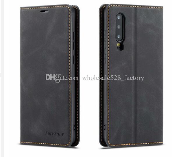 높은 품질 ORWENW 자기 가죽 지갑 케이스 가죽 범퍼와 카드 슬롯 플립 자석 커버를 들어 iPhone11 XS 삼성 S10 HUAWEI