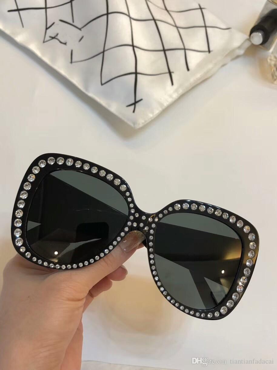 Nuevas mujeres de la moda gafas de sol de las gafas de sol 5188 hombres simple y hombres generosos vidrios de sol al aire libre gafas de protección UV400 con el caso