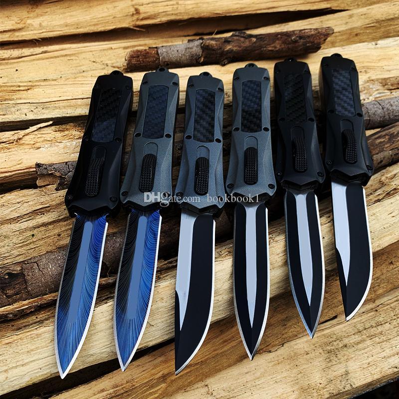 MT A162 Combat automatique Couteau lame 440 Carbon Fiber poignée de camping tactique automatique des couteaux A07 A161 pliant couteaux