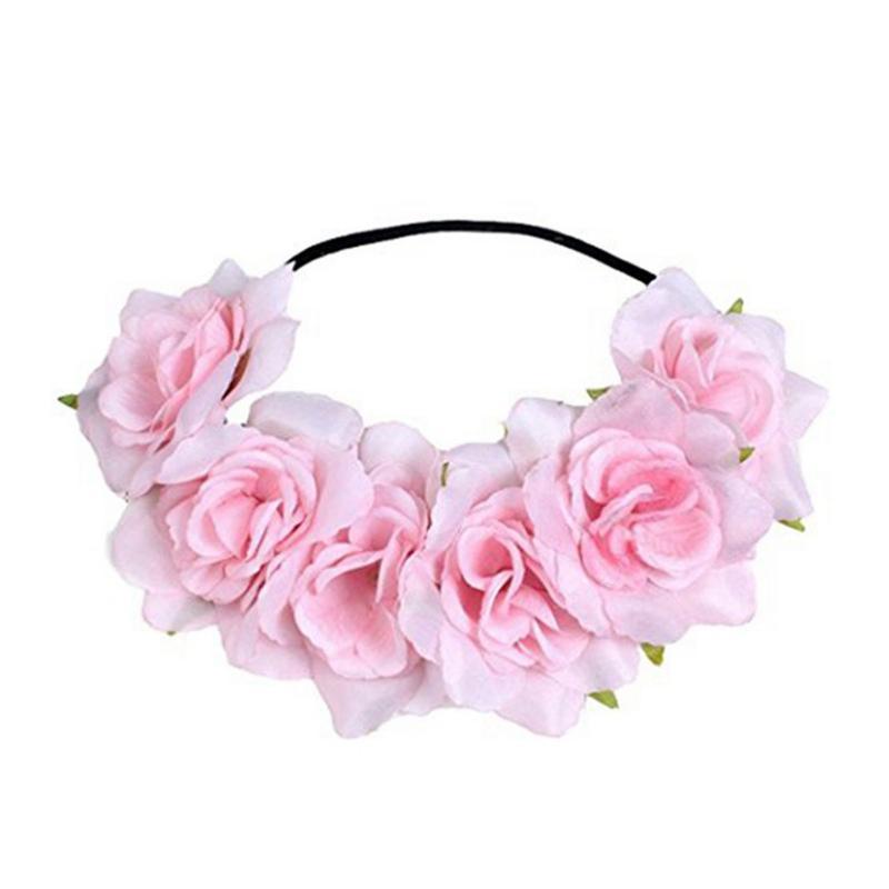 Faixa de Cabelo Flor Dia Headband elástica de Moda Mulheres Flower Headband floral mantilha grinalda Cabelo St. Patrick