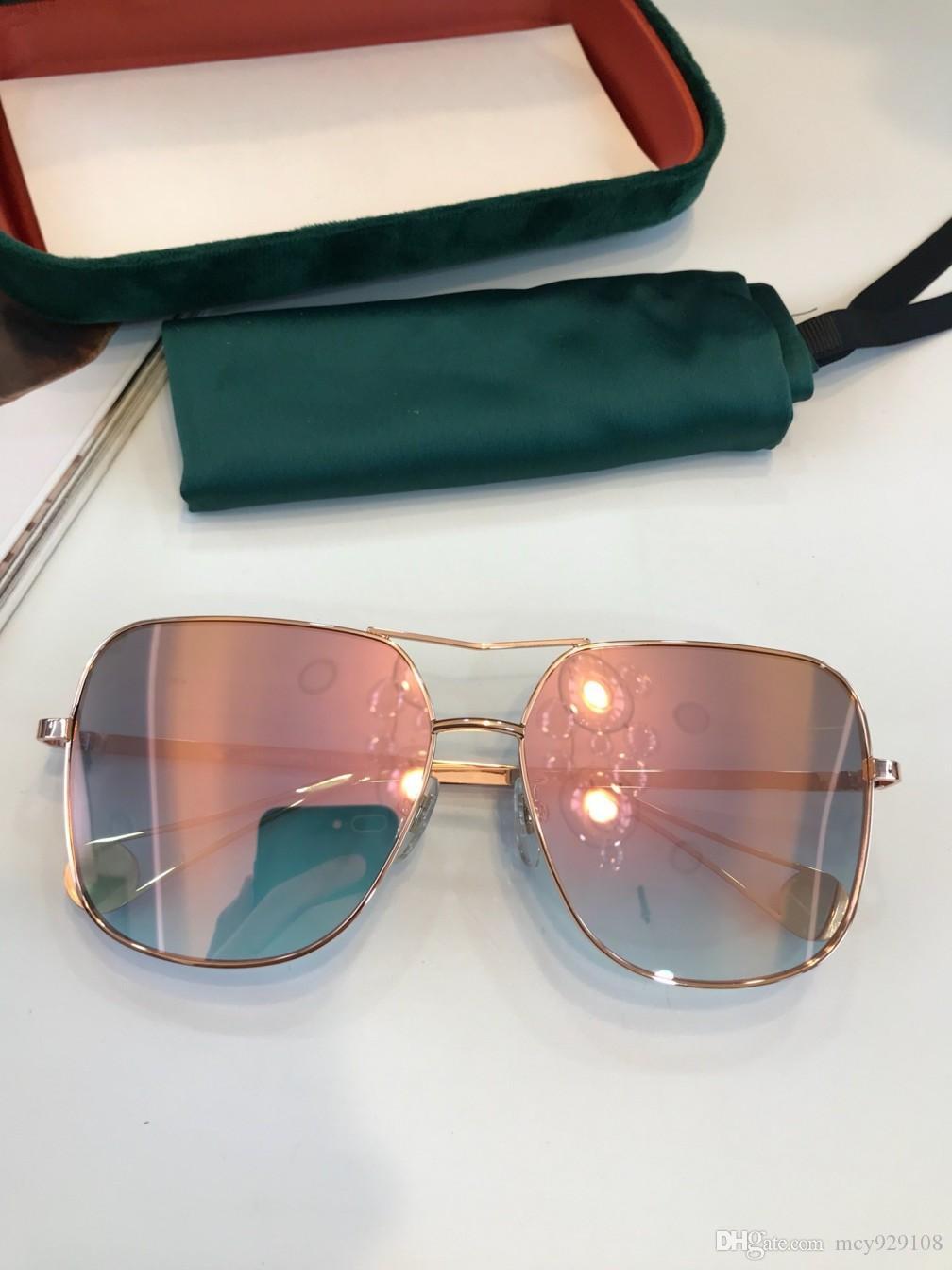 Nouvelle mode 0619 protection de l'été en plein air lunettes de soleil femmes populaires hommes simples hommes UV400 lunettes gros avec étui