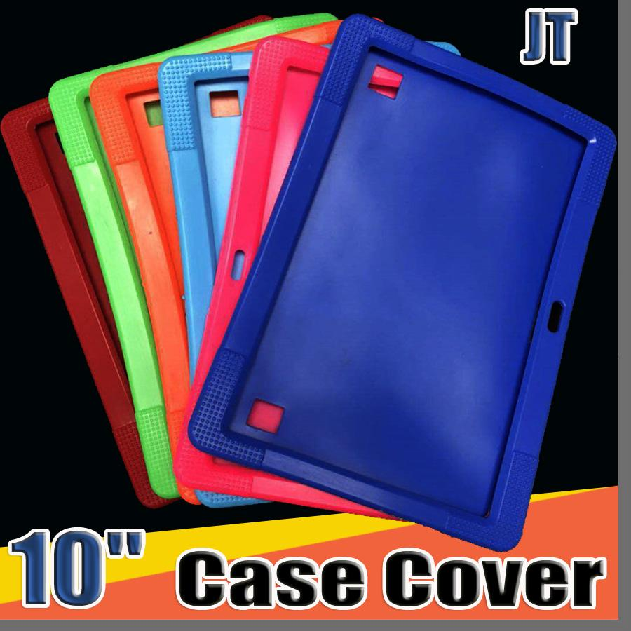 """JT Cheapest 50pcs Anti Dust Kids Child Soft Silicone Rubber Gel Case Cover For 10"""" 10.1 Inch A83T A33 A31S Android Tablet pc MID Free DHL"""