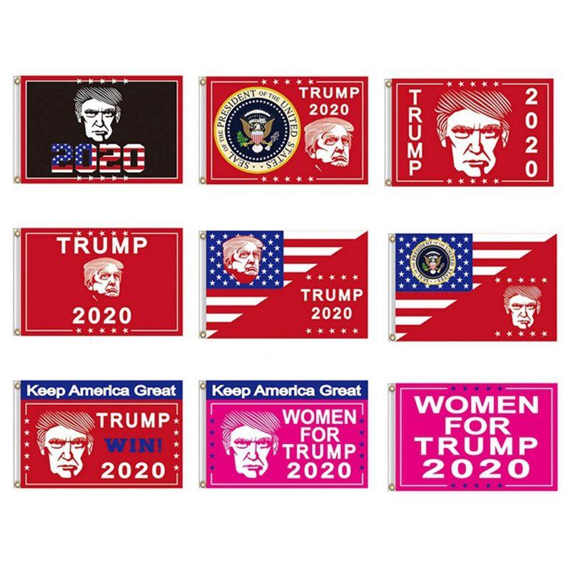 90*150cm Trump 2020 Flag Donald Trump Keep America Great Banner New Designer Flags Festive Garden Decoration Flags HHA743