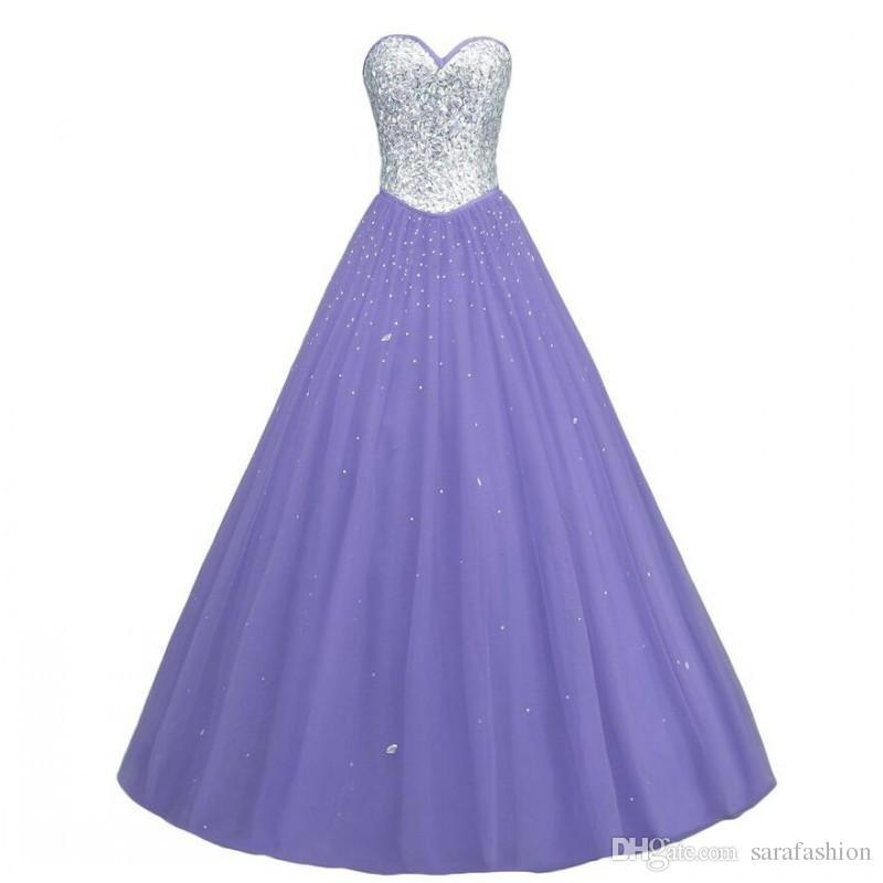Frisado Tule vestido de Baile Querida Vestidos de Baile Lace Up 2019 Longo Prom Vestidos Novo Vestido de Festa