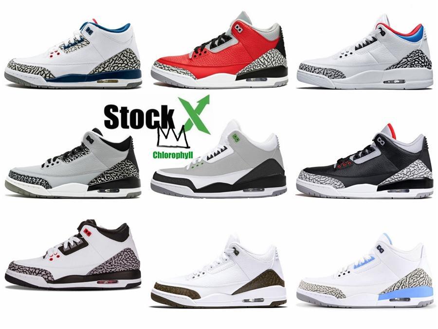 Hava 3 Saf Para 308497-100 3S Iv Beyaz Kicks Erkekler Basketbol Spor Ayakkabıları Sneakers İyi Kalite Eğitmenler ile gönderilir Kutusu # 563