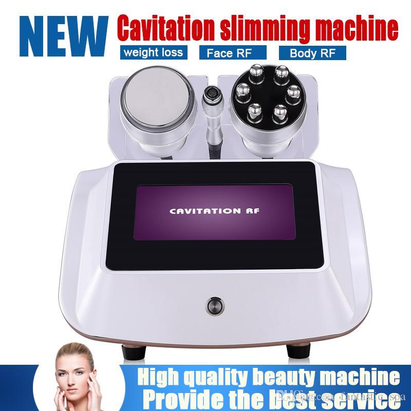 2019 새로운 도착 1 3 Cavitation RF 바디 슬리밍 기계 얼굴 RF 피부 강화 피부 손실 체중 감량 아름다움 장비