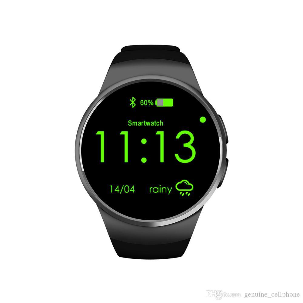 KW18 Smart Watch Voll Screen Bluetooth Reloj Inteligente Smart-Armband mit SIM-Karten-Slot-Puls-Monitor-Armbanduhr für Android iPhone