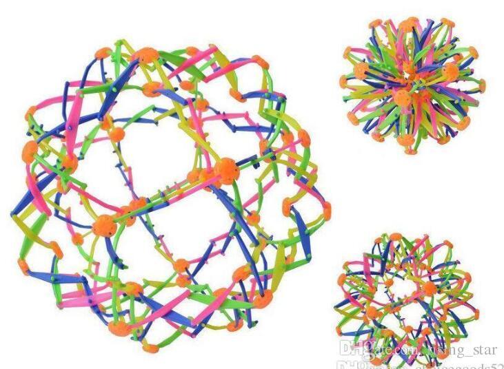 Colorido Catch retráctil balón con la mano mágica cambiable regalo bola de la flor de bolas para niños muchachas de los juguetes de la diversión de Navidad