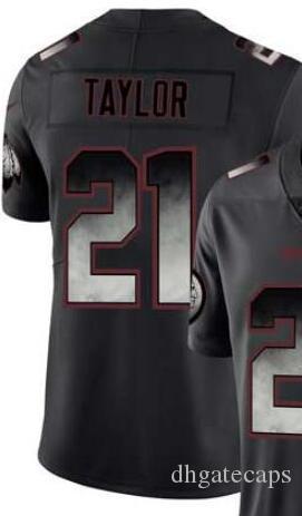 Fumo preto de Moda Jersey Homens limitada Washington 21 jersey t-shirts camisas de futebol todas as equipes americanas