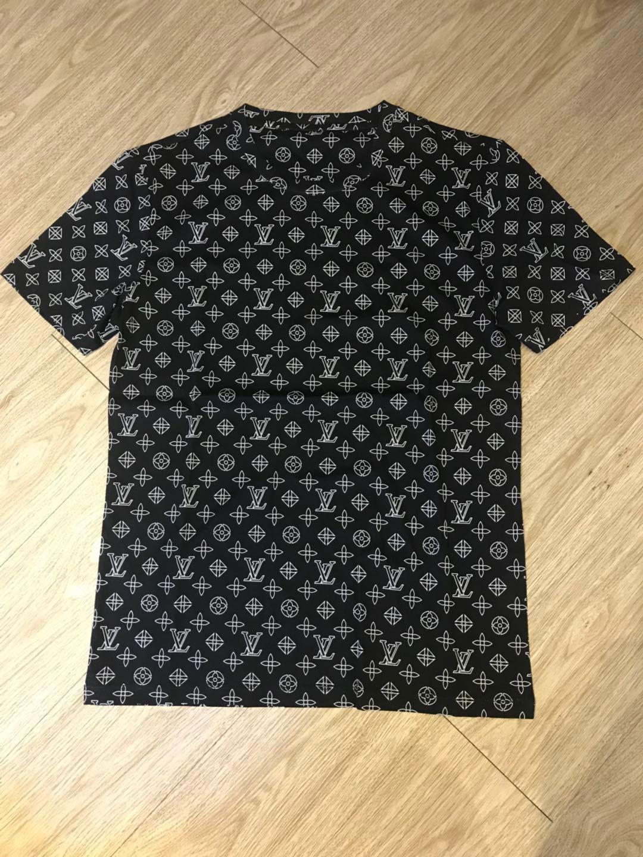 2020 camiseta para hombre de la moda británica de flores gran letra impresión de la letra primavera y el verano impresión de alta calidad salvaje de celosía transparente tee