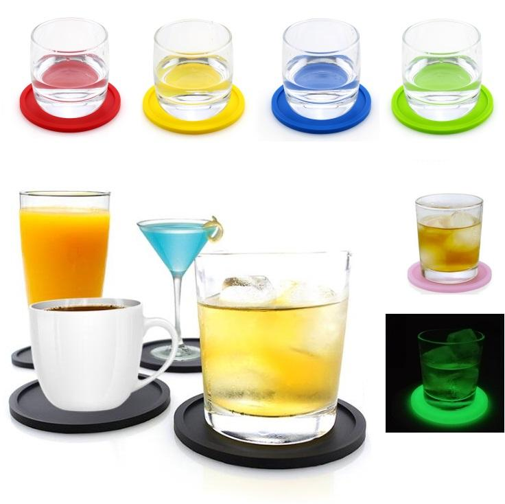 Silicone Coasters Cup Anti-scald Bowl Pad Coffee Tea Cup Mats Thickened Teapot Drink Coasters For Kitchen Bar