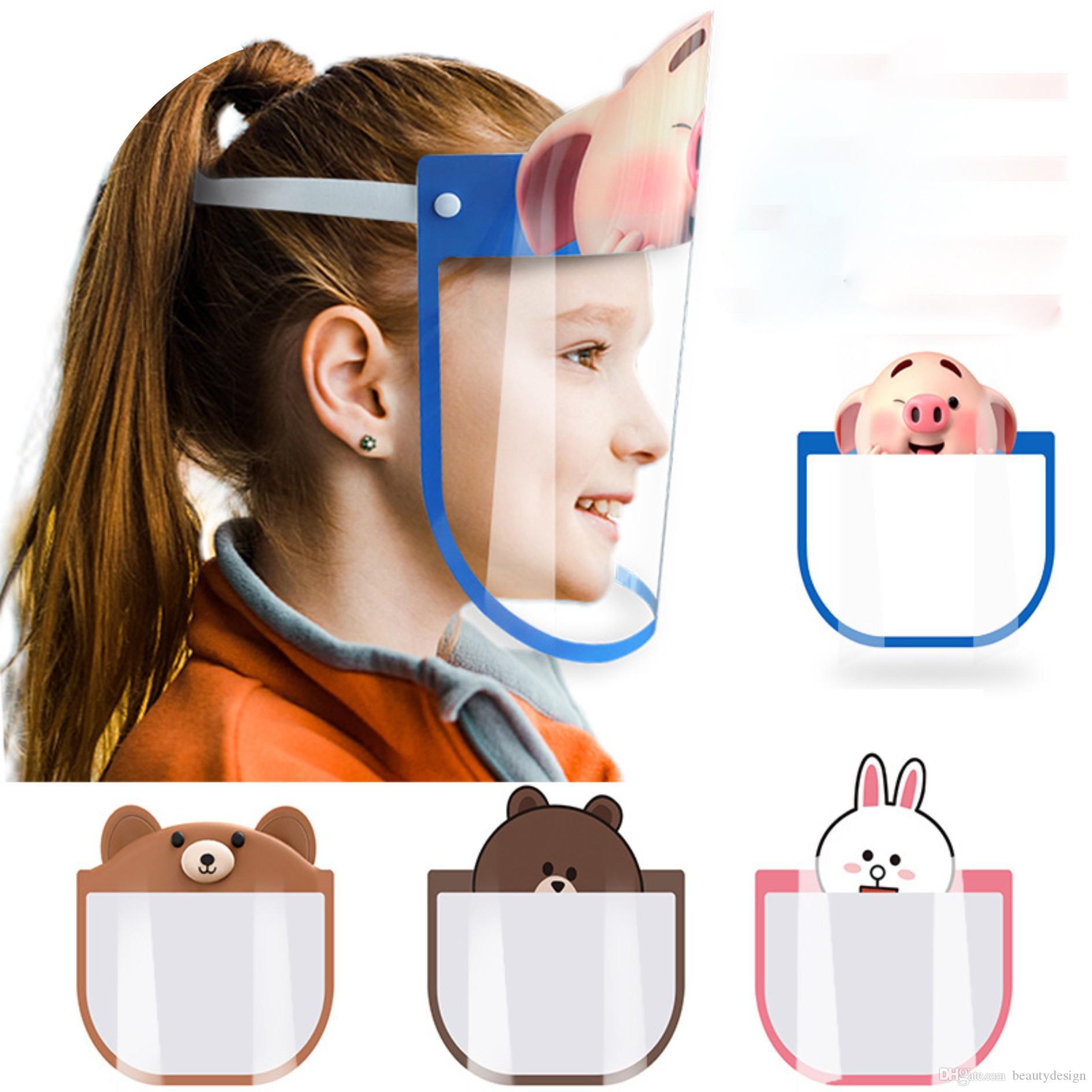 무료 배송 4 색 아이 안티 침 보호 모자 방진 마스크 캡 안티 - 안개 눈 보호 버켓 모자 이동식 어린이