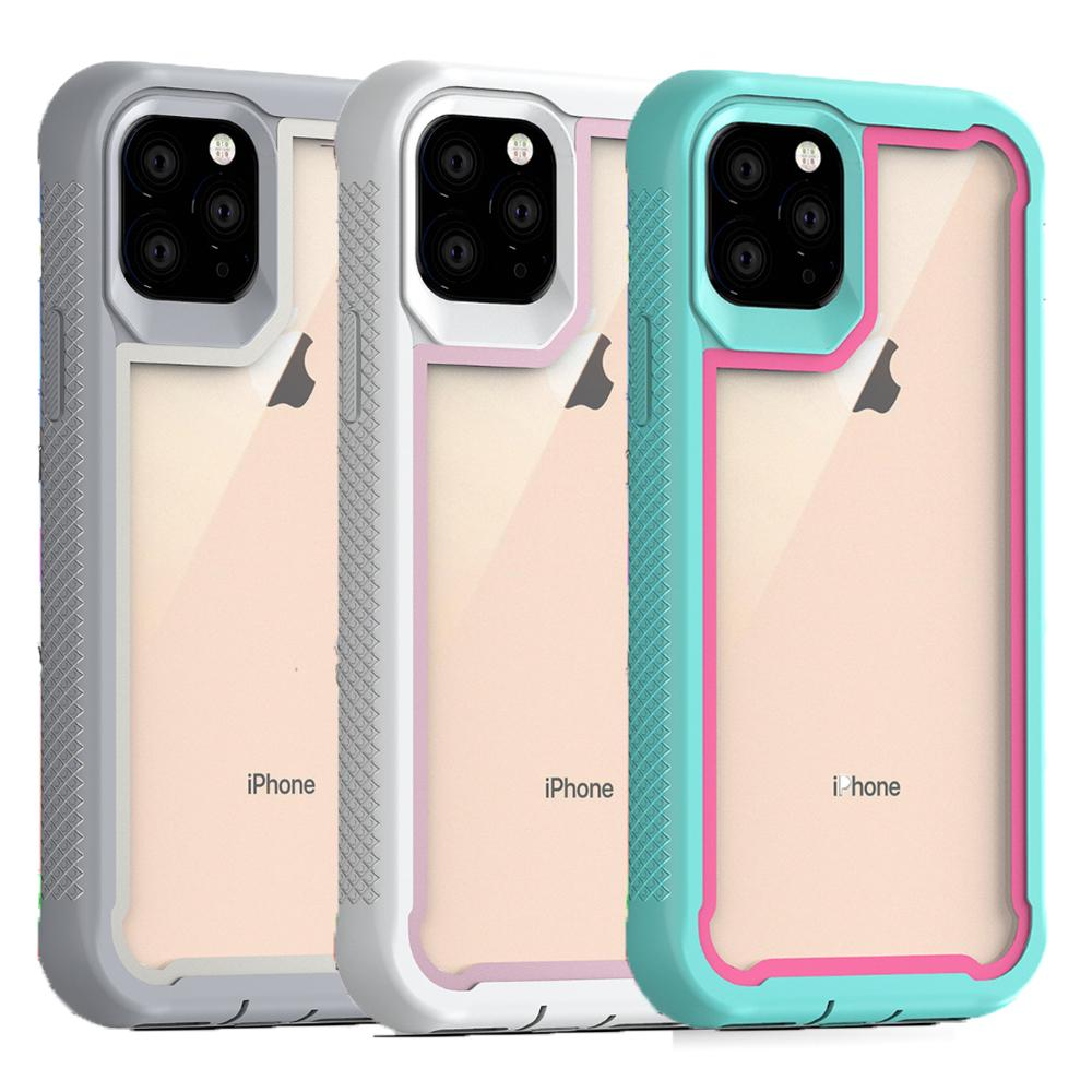 For Iphone 11 Case Crystal Clear Hybrid Dual Layer Protective Cover 2 In 1 Shockproof Phone Case For Iphone 11 Pro Max