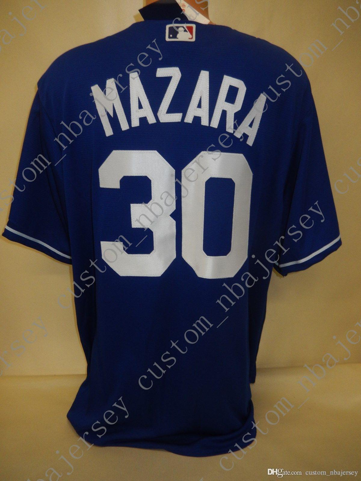 100% sur mesure de broderie Nomar Mazara chandails BLEU Nouveau point personnalisez un nom de nombre MEN Maillots XS-5XL NCAA JERSEY
