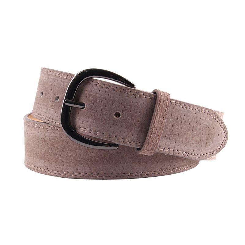 ELIfashion Pigskin echtes Leder-Gurt-Bügel-Kleid und Jeans Gürtel Weiblich Mode Shinnig schwarz Buckle für Frauen