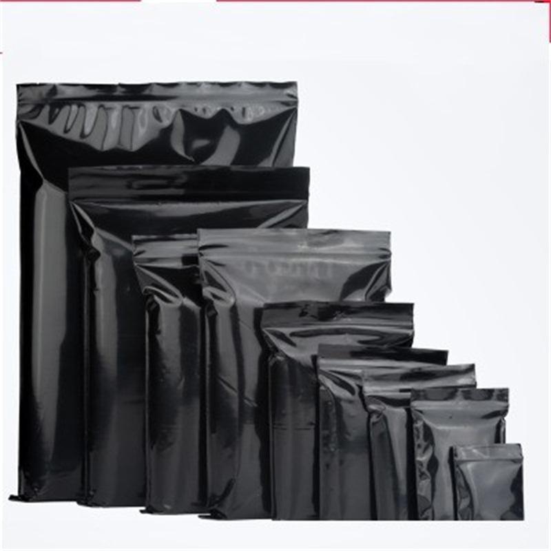 PE auto sellado de bolsas Negro Color de fondo plano Matt embalaje bolsas de té pequeña bolsa envase de alimento para imprimir por mayor de 0 21zc4 ff