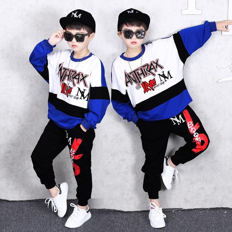 2 Sets Children's Clothing Spring and Autumn New Long-sleeved Sweater Trousers Boy Sports Jacket Casual Fashion Shirt Pants Clothes Suit