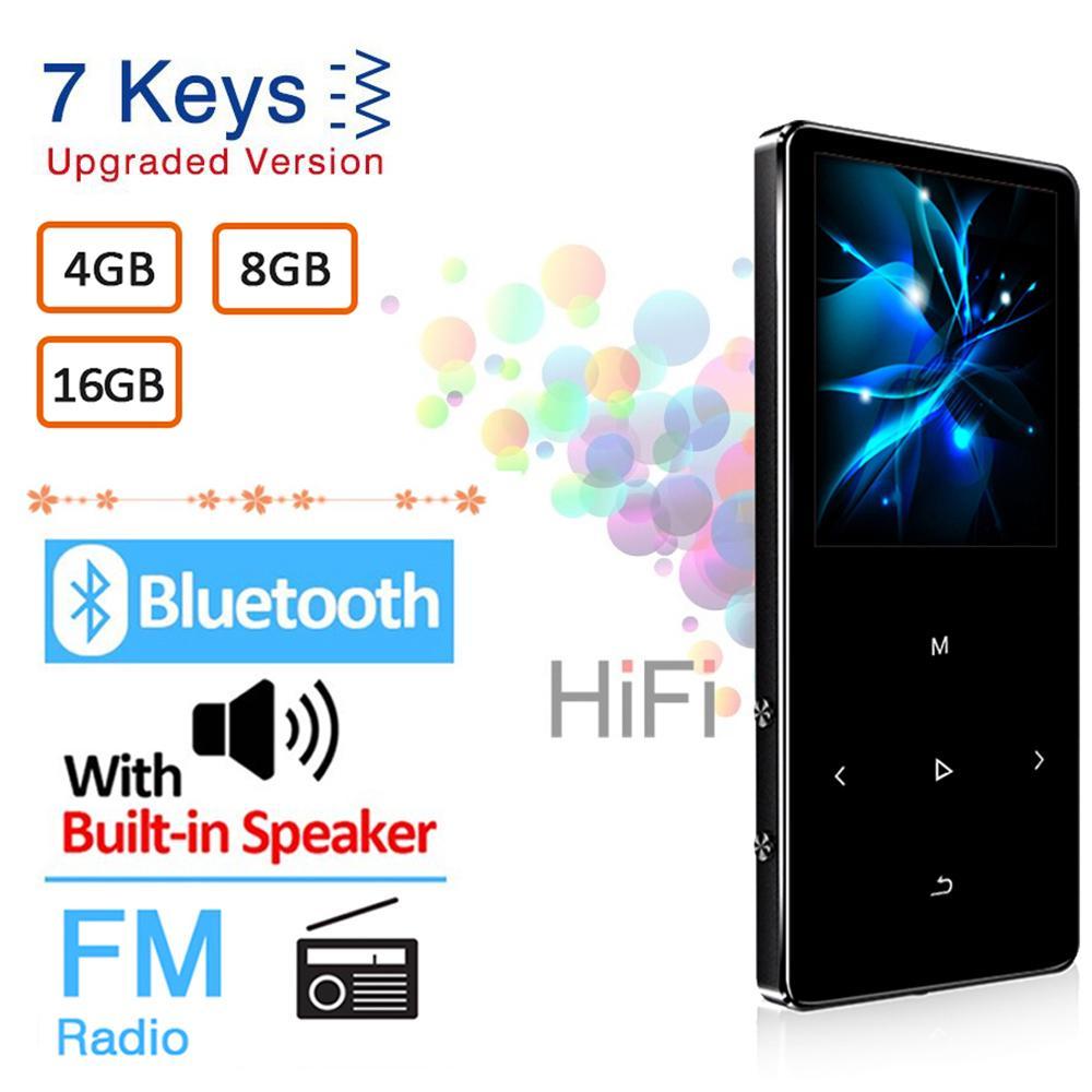 لاعب MP3 مع بلوتوث مفتاح رئيس لمس المدمج في 4GB 8GB 16GB هيفي معدنية صغيرة وكمان المحمولة مع تسجيل راديو FM