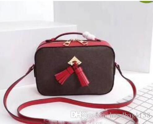 Newest Good Price Women's Saintonge Tassel Camera Bag 43557 Genuine Leather Shoulder Bag 22cm*16cm High Quality Brand Handbag with handle