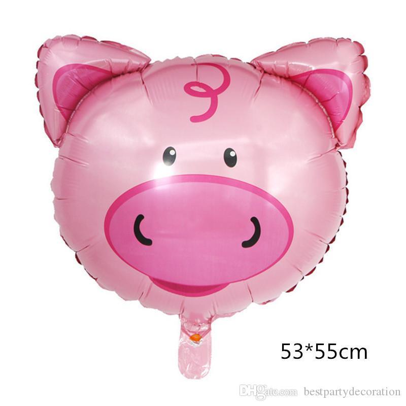 Mittlere Größe Tierkopf Folien-Ballone aufblasbares Luftballon alles Gute zum Geburtstag Partydekorationen Kinder Baby Shower Party Lieferungen