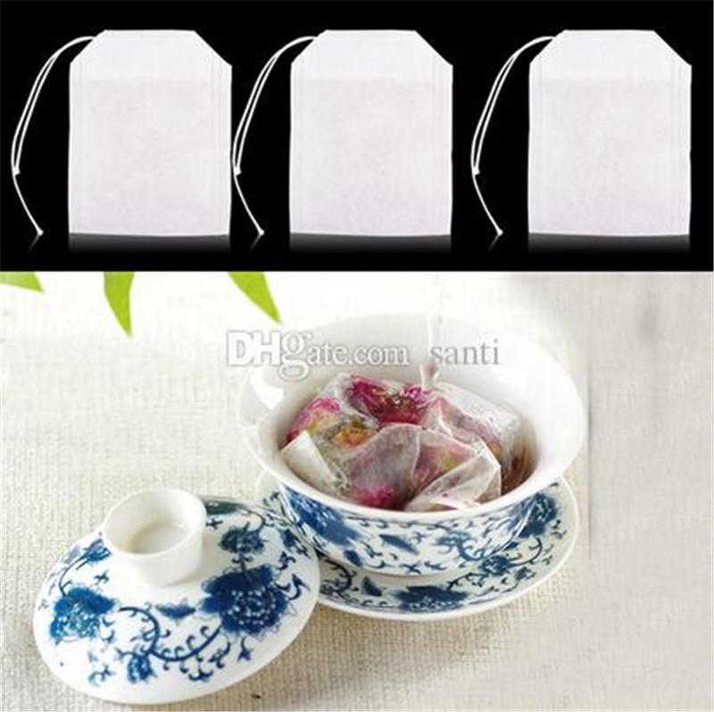 Nuova sala da vuoti Borse Tè tè String Heal guarnizione del filtro di carta Bustina di 5,5 x 7cm per Herb Tè allentato