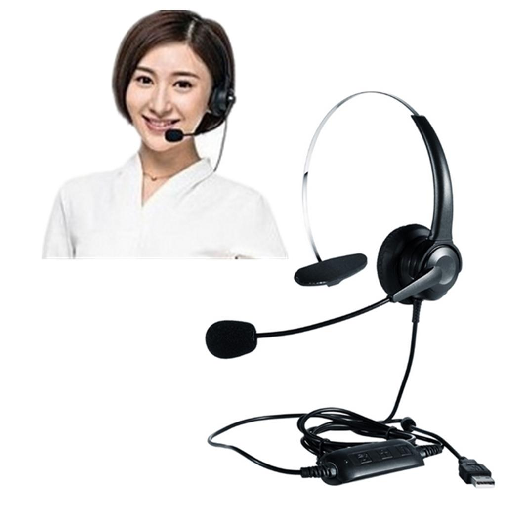 Monaural Usb Headset With Mic For Computer Internet Calls Voip Communication Bluetooth Earphones Wireless Earphones From Sharplace 13 77 Dhgate Com