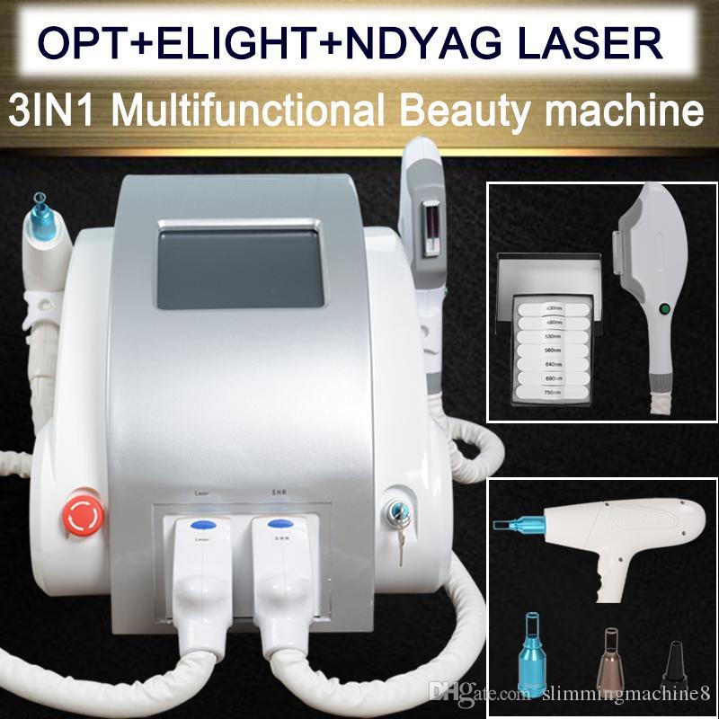 OPT SHR IPL Nd Yag lazer dövme ÇIKARILMASI makinesi hızlı epilasyon Elight Cilt Gençleştirme Alexandrite lazer makinesi