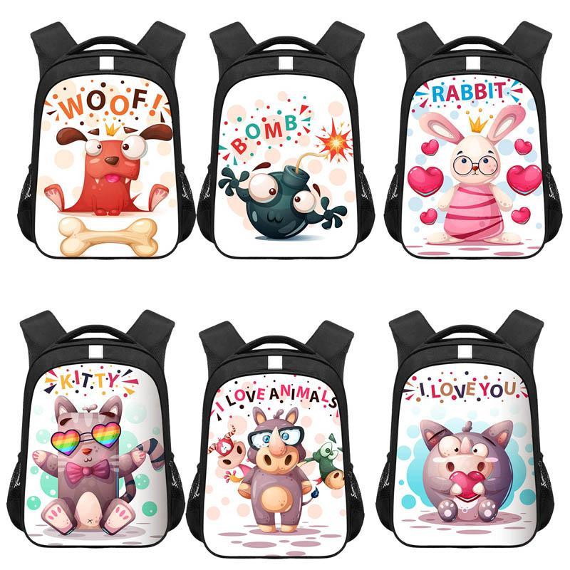 Meninas Meninos mochilas impermeáveis Bags respirável School Kids desenhos animados 3D Crianças ortopédico escola Mochilas Mochila Escolar