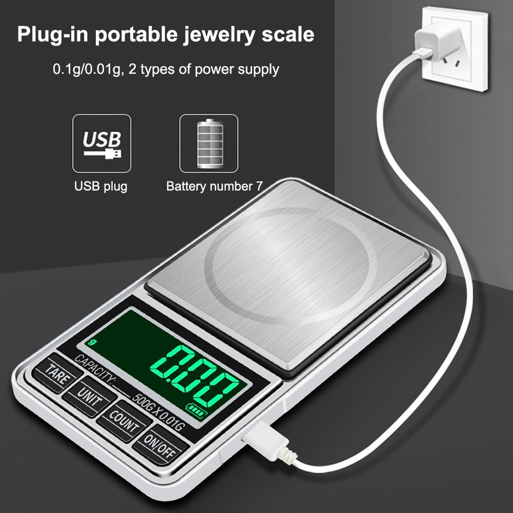 Small mini pocket digital electronic weighing weight scale 500//0.1g UK Stock