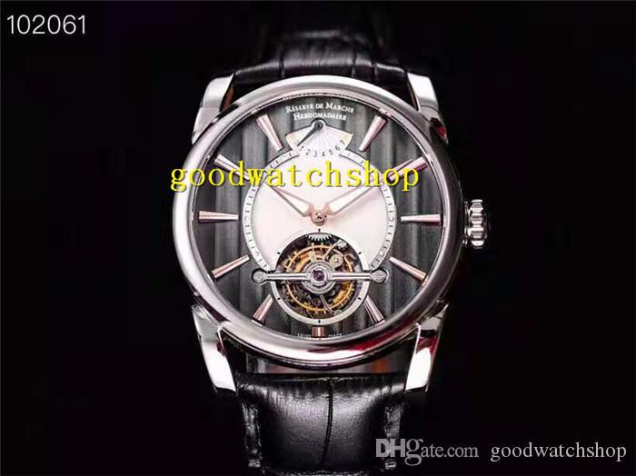 JB New Tonda PFH251 Мужские часы Tourbillon Real ручной намотки механические наручные часы Power Reserve Дисплей сапфировое стекло с ЧПУ стали 316L