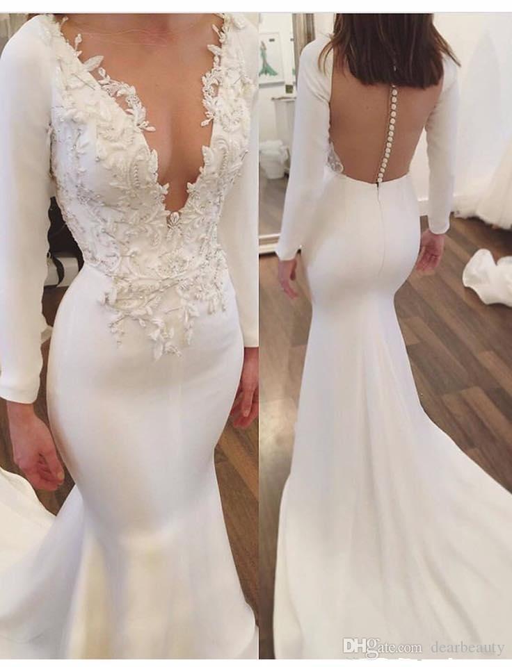 사우스 아리안 인어 레이스 웨딩 드레스 2021 긴 소매 스팽글 구슬 럭셔리 두바이 아랍어 레이스 노 소 노 플러스 사이즈 성 신부 가운
