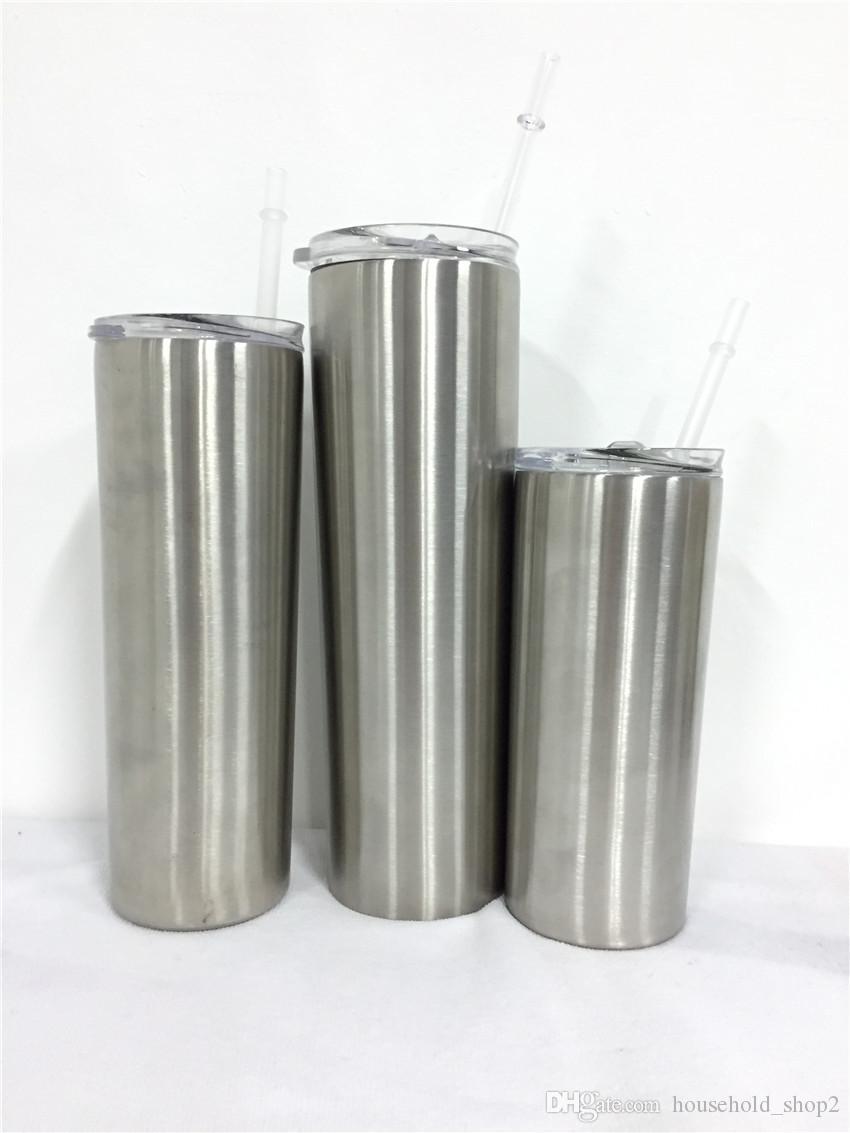 Aço inoxidável magro Tumbler 30 onças isolados a vácuo Hetero Beer Cup Caneca Vidros com tampas e palhas A05