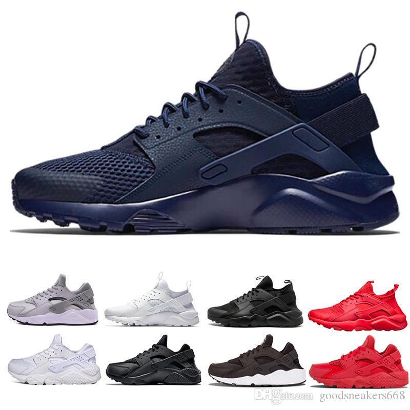 shoes Дешевые новый дизайнер Huarache ультра бегун кроссовки кроссовки для мужчин женские черные белые мужчины спортивные дизайнерские туфли 36-45 бесплатная доставка
