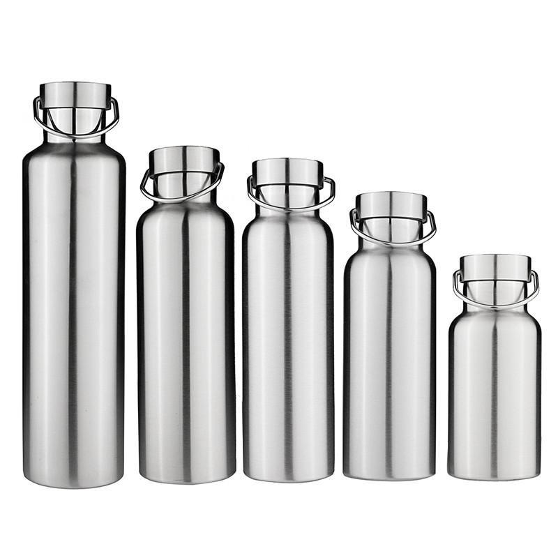 New Stainless Steel Double Wall Vacuum Jug Insulated Water Bottles Travel Coffee Drink Vacuum Flasks 350/500/600/750/1000ml Y200330