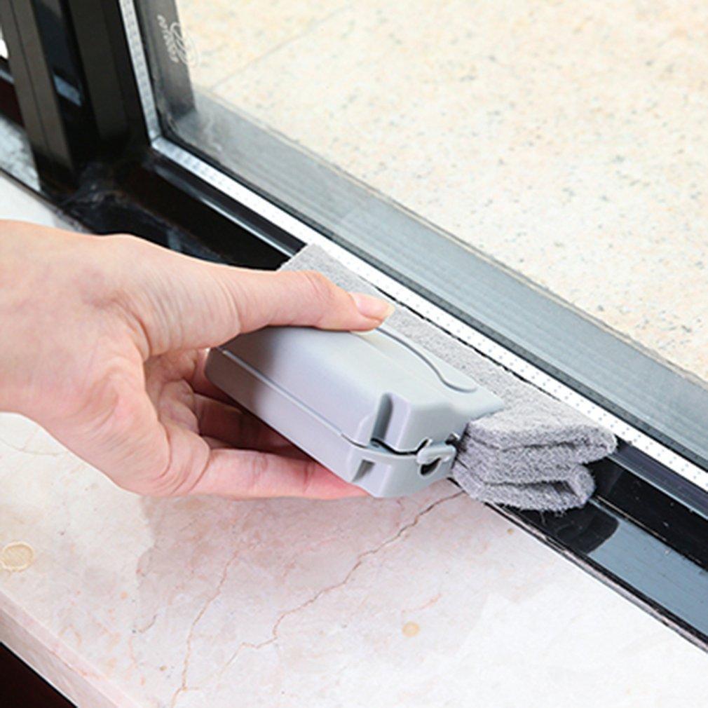Finestre Slot Cleaner Window Cleaner pennello pulito Finestra Slot Cleaner Spazzola di pulizia Per fibbie pulizia Finestra Slots