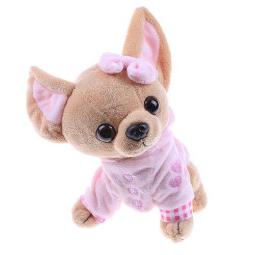 Stuffed Animal Plush Dog Chihuahua Plush Toy Creative Stuffed Doll Simulation Toy Kawaii Gift For Kid&Girl