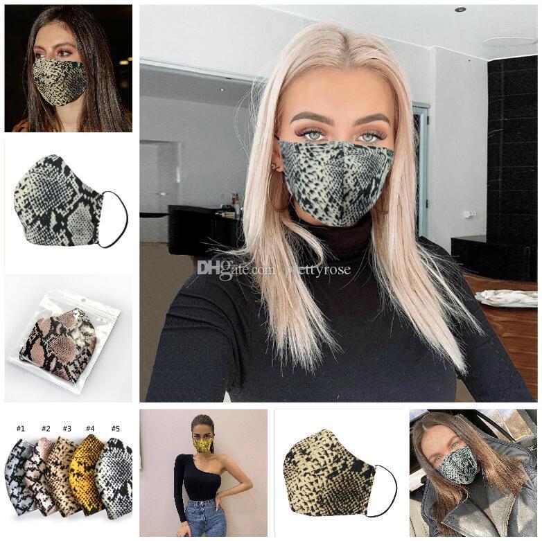 PM2.5 leopardo máscara de algodón simple máscara unisex Negro ciclismo transpirable Boca mascarilla de boca cara Máscaras envío