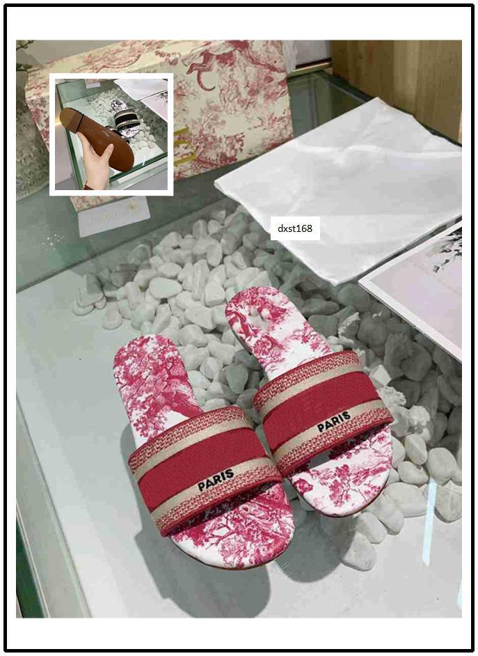 BESTE QUALITÄT NEU Trendy Böhmen Frauen Pantoffeln Brief Stickerei Dame Sandal Designer beiläufige Slipper 2