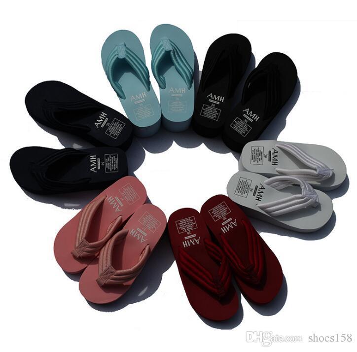 Women's Slippers High-quality non-slip rubber bottom sponge cake Wedges Flip-Flops Thick-bottomed beach sandals and slippers