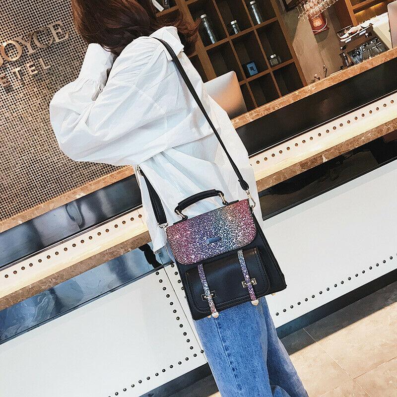 Designer-New Women Bag PU Bling Sequins Backpack For Lady Mini Lovely School Travel Bags Messenger Shoulder Crossbody Bag