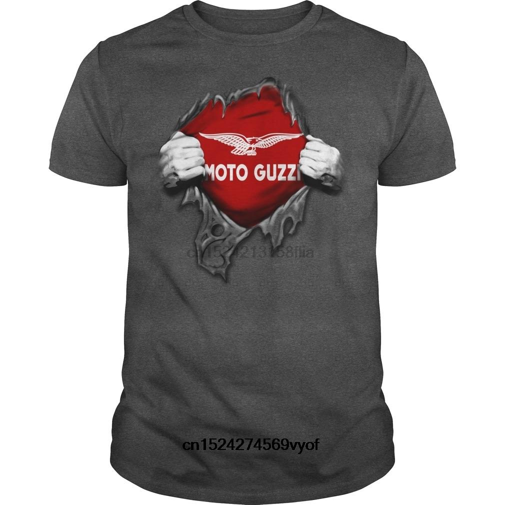 Uomini divertenti t-shirt donna novità maglietta MOTO GUZZI MOTO GUZZI