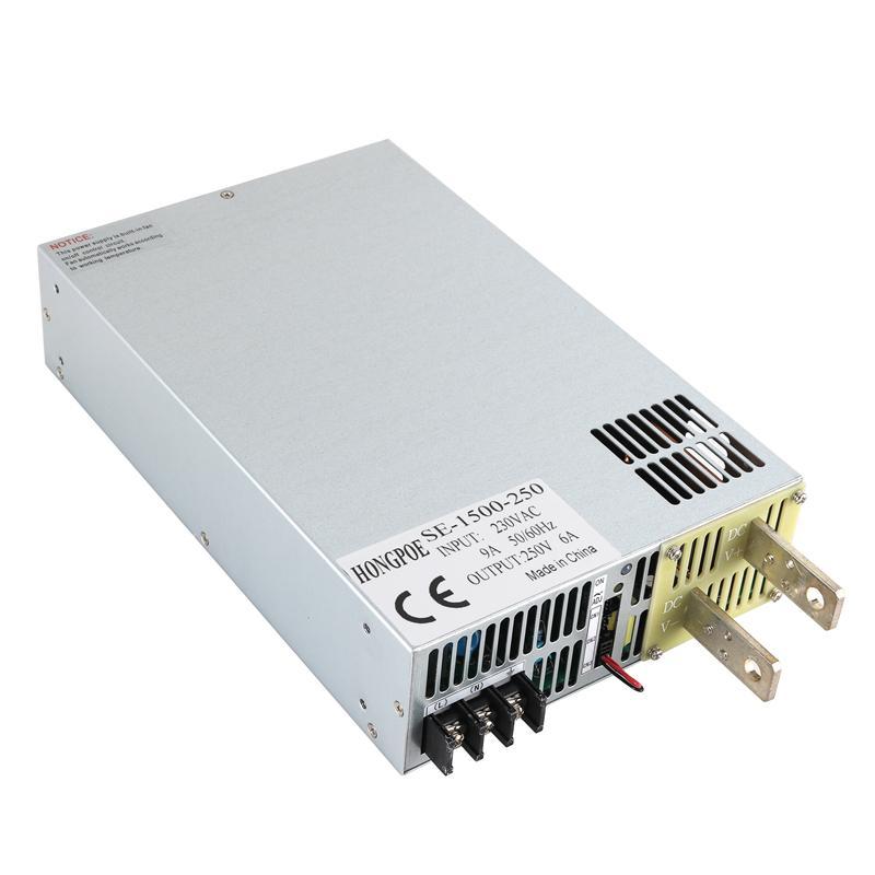 1500W 6A 250V 전원 250V 0-5V 아날로그 신호 제어부 0-250v 조절 전원 250V 6A SE-1500-250 PLC 제어